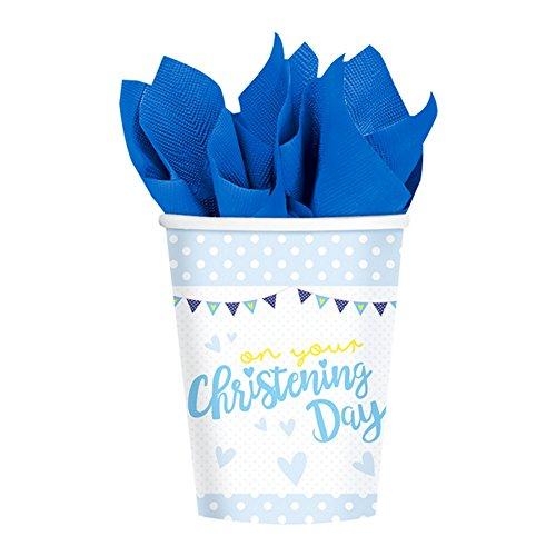 Amscan International-9901953266ml en su christtening día azul vasos de papel