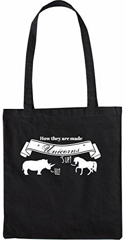 How Farbe Stofftasche Einhorn Mister Unicorns made Schwarz are Tasche Merchandise Schwarz 6xEq1P