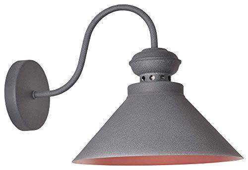 Vintage Retro Wandleuchte Loft 17271 Metall Grau Bronze Ø 25 cm; E14; 1 * 40W Modern Design Wandlampe Minimalistische Wandbeleuchtung Downlighter Schlafzimmer Treppenhaus Wohnzimmer -