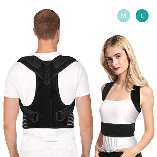 Haltungskorrektur Geradehalter Rückenstütze Verstellbare für Damen und Herren, Rückentrainer Schulter Rückenbandage für Gesunde Bessere Körperhaltung und Nacken Rücken Schulterschmerzen