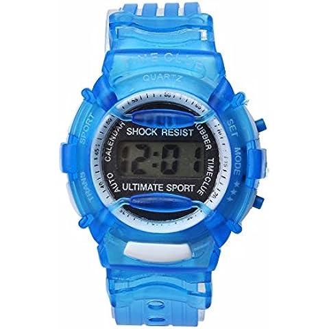 Xinantime Digitale Orologio da Polso Impermeabile Colore Blu Bambini