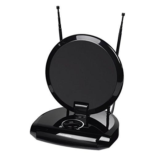 Thomson ANT1418 DVB-T/DVB-T2 Zimmer-Antenne für Radio/TV (digitaler DVB-T/-T2, DAB/DAB+ Empfang, geeignet für TV und UKW-Receiver/Tuner, mit 12-V-Anschluss für Kfz)