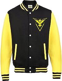 ca17d84b76d8f Equipo Instinct Mystic valor T-Shirt Varsity – Chaqueta – Pokemon Go  Ventilador inspirado para