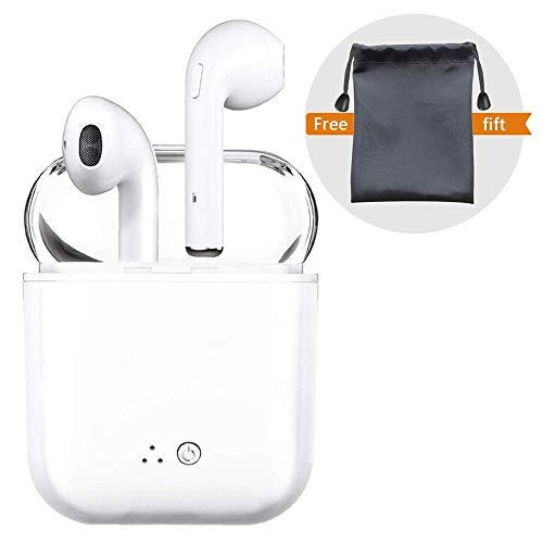 Peloo Auriculares in-ear inalámbricos Bluetooth, Bluetooth 4.2 Manos libres Bluetooth Auriculares inalambricos para iPhone X/8/7/7 Plus/6/6S Plus y Android Smartphones,Mini Bluetooth con Estuche de Carga, Cancelación de Ruido, Micrófono Incorporado[UPGRADE]