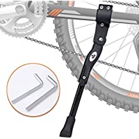 Shanqiu Pata de Cabra para Bicicleta, Aluminio Soporte Ajustable del Retroceso de Bici Caballete Bicicleta