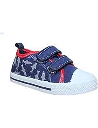 Boys Infant Chatterbox Canvas Strap Closure Trainers Plimsolls Pumps Shoes Size Infant UK 4-12