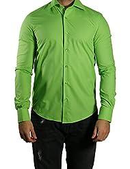 Muga chemise manches longues, ajustée, Vert