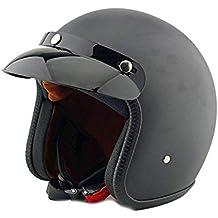 Casco de Motocicleta Vintage para Hombres y Mujeres, diseño clásico Retro de Cara Abierta Moto