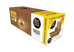 cafés: NESCAFÉ Dolce Gusto Café con Leche, Pack de 3 x 16 Cápsulas - Total: 48 Cápsulas...