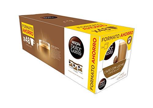 [PACK AHORRO] - NESCAFÉ Dolce Gusto Café con Leche | Pack de 3 x 16 Cápsulas - Total: 48...