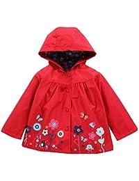 BBsmile Ropa de bebé niñas Visten Chaqueta Abrigo Impermeable para niños  Prendas de Vestir Exteriores con 32c82f53659a0