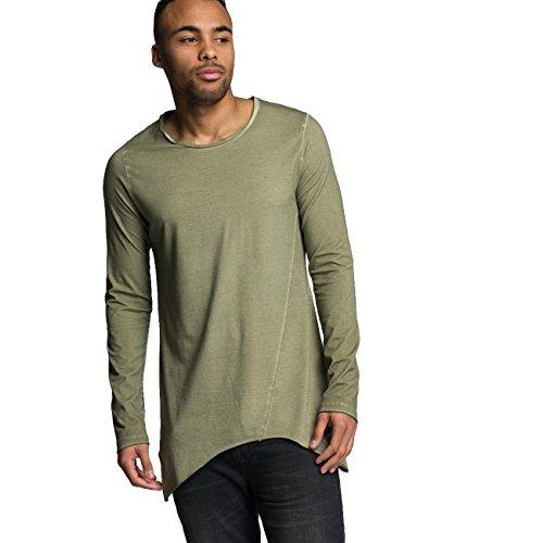 VSCT Clubwear Herren Oberteile / Longsleeve Longshirt Oilwash Khaki