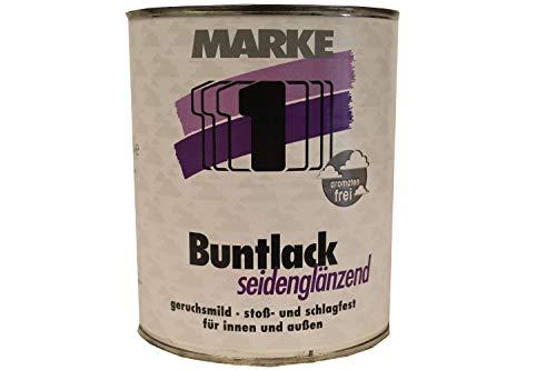 Marke 1 Buntlack seidenglänzend innen/außen lösemittelhaltig 0,75 Liter Farbwahl, Farbe (RAL):RAL 0096 Altweiß
