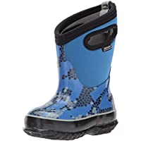 Bogs Kids Classic High Waterproof Insulated Rubber Neoprene Rain Boot Snow, Axel Print/Blue/Multi, 10 M US Toddler