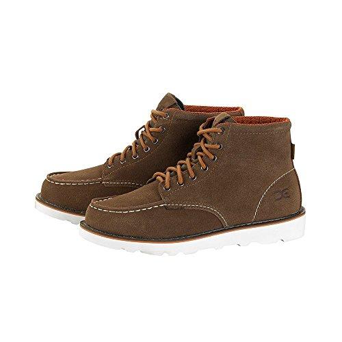 Dude Shoes Men's Rocca Tan Suede Moc Toe Boots Brown