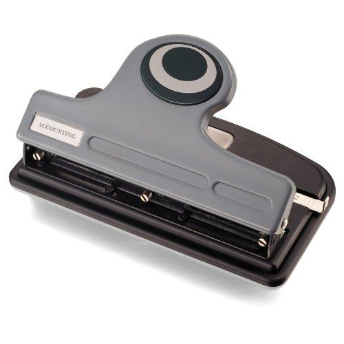 Officemate modernes 3-Loch eco-punch, Recycling/antimikrobielle, schwarz/grau/grün 30 Sheets Gray/Black/Green (Punch Eco)
