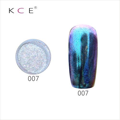 topbeauty Nail Art Paillettes Brillant miroir chrome Pigment poudre Nail Art Outils avec éponge à 7