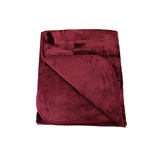 Gözze Cashmere-Feeling Tagesdecke , Bordeaux, 180 x 220 cm, 40024-33-8020