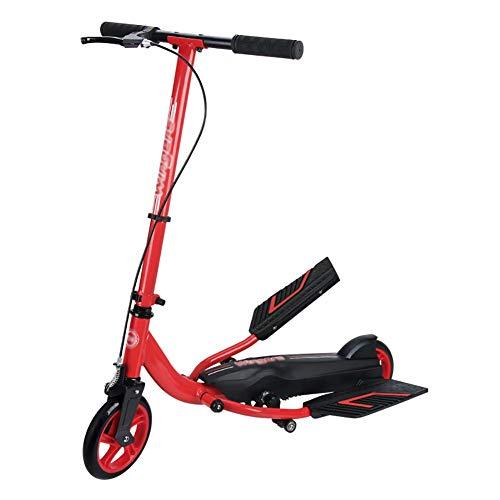 Monopattini scooter a pedale pieghevole per bambini/adulti, bicicletta a pedale largo a 2 ruote non regolabile, non elettrica