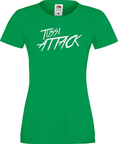 Shirtinstyle Lady T-Shirt Tussi Attack,Kelly, XS