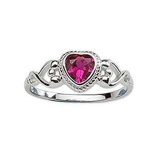 Precious Pieces – Ring mit Geburtsstein aus Zirkonia und Sterlingsilber