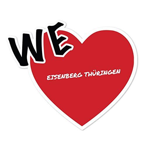 JOllify Aufkleber - EISENBERG THÜRINGEN – Farbe: Design: We love - Wir lieben