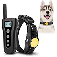 Collar para adiestramiento de perros 1000ft Remote 2018 Collar mejorado de Sk Sk para perros Recargable e impermeable con vibración Beep Safe & Cuello inofensivo para perros pequeños y medianos grandes