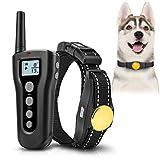Collar para adiestramiento de perros 1000ft Remote 2018 Collar mejorado de Sk Sk para perros Recargable e impermeable con vibración Beep Safe & Cuello inofensivo para perros pequeños y medianos