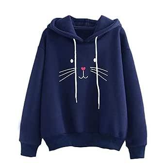 Khhalisi Women's Fleece Full Sleeves Sweatshirt Hoodie (Navy, X-Small)