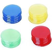 Jooks Plastikmünzen Plastik Bingo Chips Zähler Bedruckte Pfandmarken 100 Stück Klar Rot