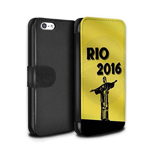 Stuff4 Coque/Etui/Housse Cuir PU Case/Cover pour Apple iPhone 5C / Pack 5pcs Design / Rio Olympique Collection Jaune