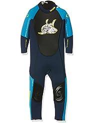 TWF Kids XT3 Full Wetsuit - Traje isotérmico para niños, color azul, talla 7-8 años