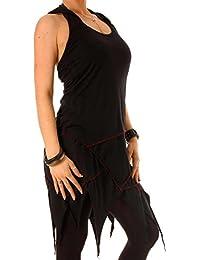 Vishes - Alternative Bekleidung – Baumwoll-, Neckholder, Zipfel-, Elfenkleid mit Zipfelkapuze