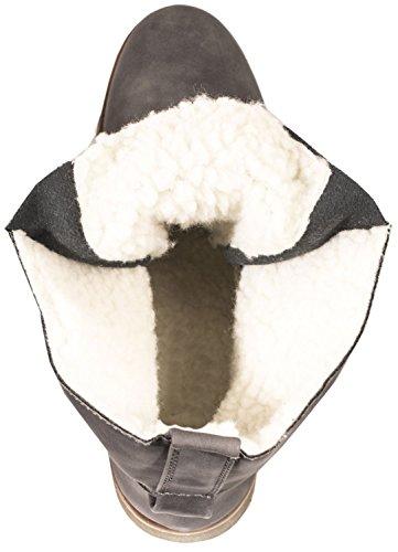 Elara Gefütterte Damen Stiefelette | Biker Boots | Trendy Lederoptik | Warm & Kalt Gefüttert Grau Frankfurt