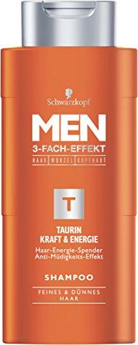 Schwarzkopf MEN Shampoo Taurin Kraft und Energie, 4er Pack (4 x 250 ml)