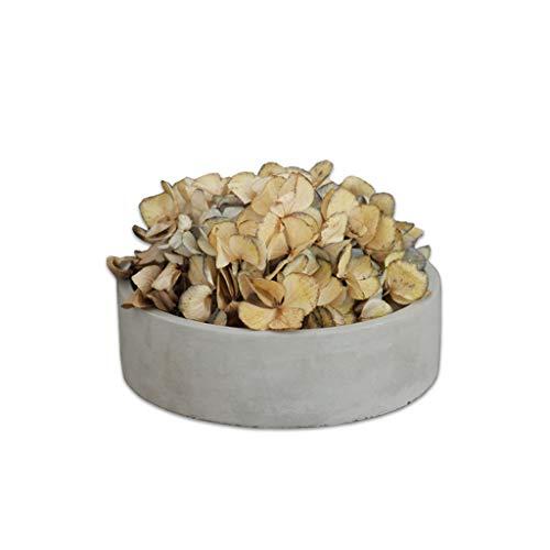 ZWD Pot de fleur rond à grande bouche - Pot de fleur rond ovale en ciment Pot de fleur de 15 cm de diamètre Produits menagers (Couleur : Gray, taille : 15 * 4.5cm)