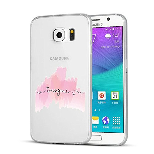 Vanki® Coque Galaxy S6 ,Motif de mot personnalisé Ultra transparente silicone en gel TPU souple Coque de Bumper et Anti Scratch Shock Absorption for Samsung Galaxy S6 4