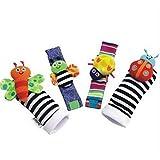 Infant Socks And Wrist Rattles Soft Toys Set
