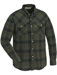 Pinewood Hombre lumbo Camisa, todo el año, hombre, color verde/negro, tamaño L