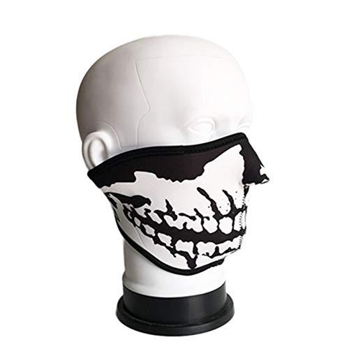 Hemore Außen warme kalter Wind Reit Skelett-Maske bedeutet D Absatz 1 Staubdichte, kalte, warme Mundmaske