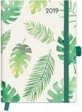 Greenline Diary Floral - Kalenderbuch A5 - Kalender 2019 - teNeues-Verlag - Taschenkalender Lesebändchen und Verschlußgummi - 16 cm x 22 cm