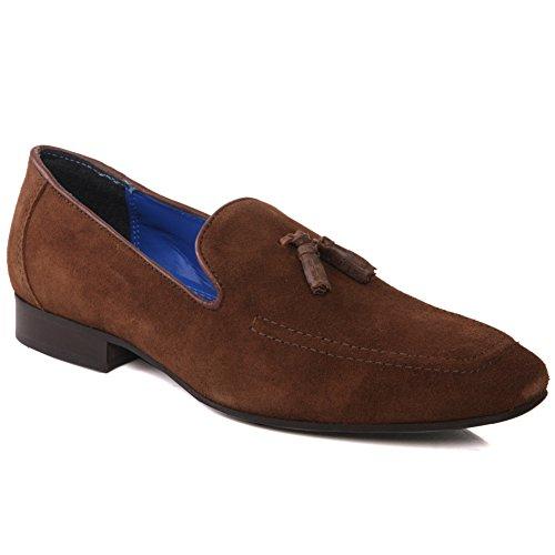Unze Mens 'Apsley' Wildleder Schuhe aus Wildleder UK Größe 7-11 - Apsley Braun