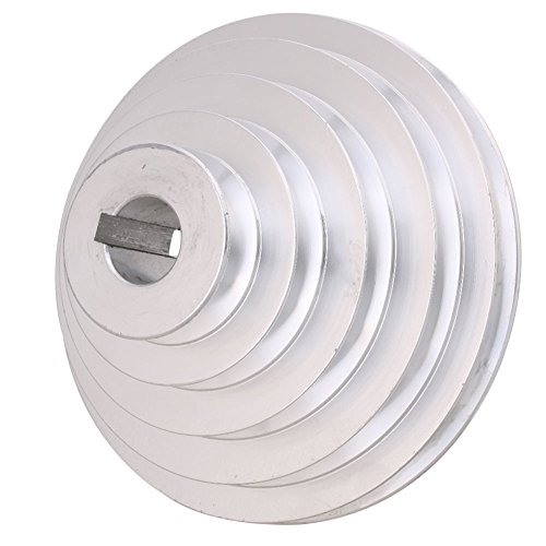 BQLZR 54mm bis 150mm Außendurchmesser 24mm Bohrungsbreite 12.7mm 5-Stufen-Riemenscheibenriemen aus Aluminium für einen Typ-Keilriemen