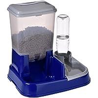 Distributore automatico cibo e acqua 2in1 Combina l'erogazione di acqua e cibo regolando il giusto dosaggio delle crocchette e la presenza costante di acqua fresca. Misure: L 37 x P 32 x H 36