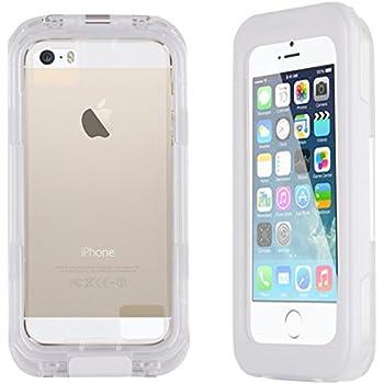 JAMMYLIZARD | Coque SALAMANDRE Waterproof pour iPhone 5 5s, 5C et 4, Blanc