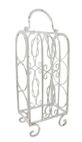 Dekorative Weiß Metall Tischplatte Weinregal