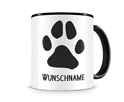 plot4u Pfote mit Name personalisierbar Hund Katze Tasse Kaffeetasse Teetasse Kaffeepott Kaffeebecher...