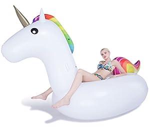 Jasonwell®Inflable Gigante de Unicornio Flotador