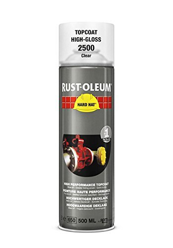 Deals For Rust-Oleum Industrial High Gloss Transparent Clear Hard Hat 2500 Aerosol Spray 500ml (12 Pack) on Line
