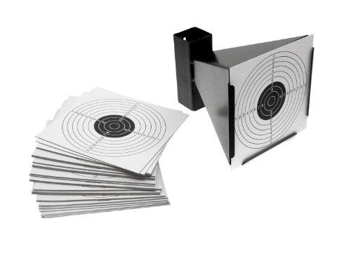 BEGADI Metall Kugelfang mit Trichter inkl. 100 Zielscheiben 14 x 14cm (für BBs, Diabolos etc.) zu BEGADI
